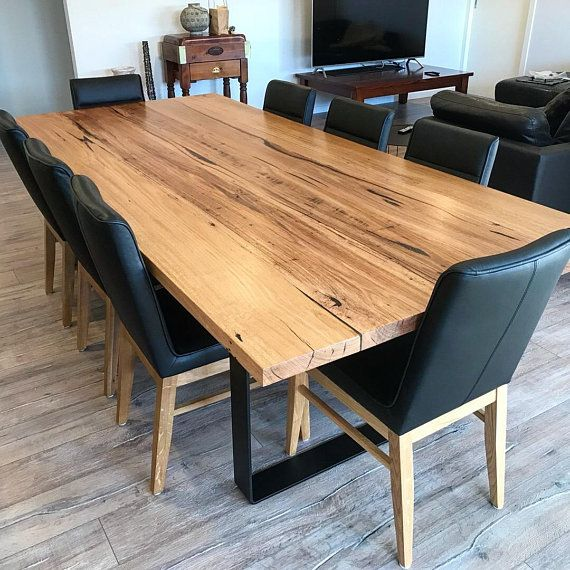 Recycled Reclaimed Hardwood Messmate Dining Table Timber Dining
