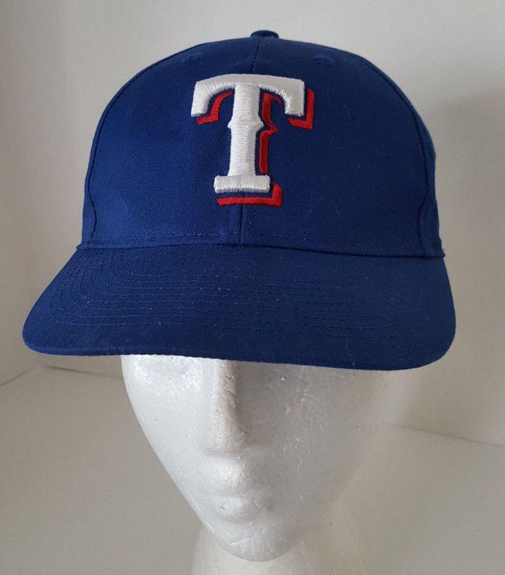 Texas Rangers Hat Blue Baseball Adjustable Team MLB Youth Size Cap #TeamMLB #TexasRangers