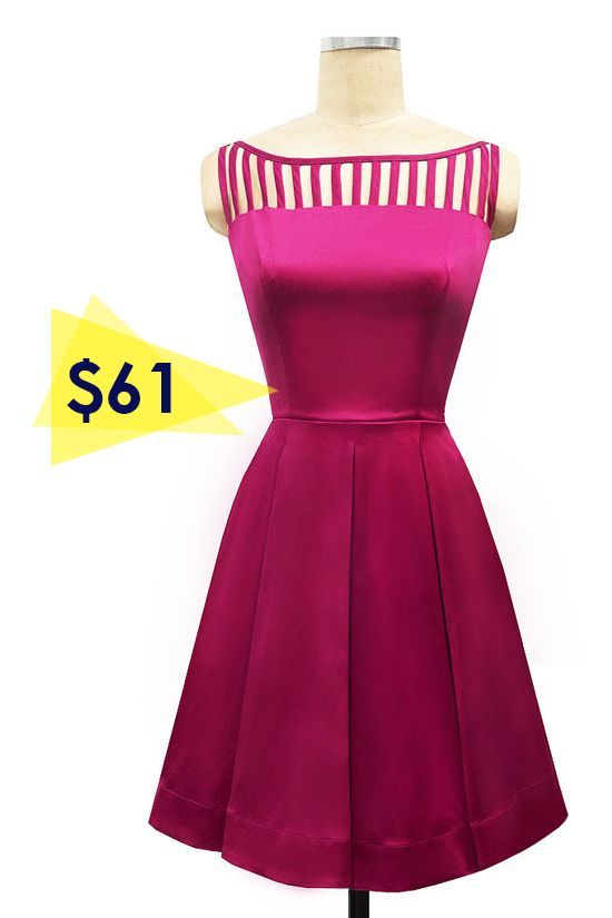 Super cute fuchsia bridesmaid dress good on many body types