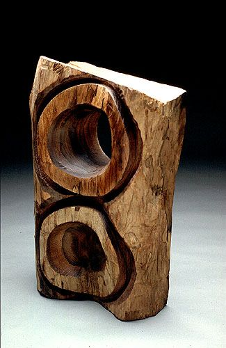 "Mark Lindquist, ""Captive #3, Africa,"" 1986. Rosewood."