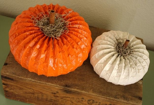 Dryer Vent Pumpkins | Community Post: 39 Outside-The-Box Pumpkin Ideas