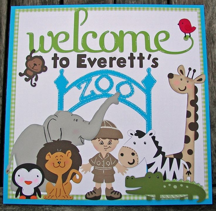 Zoo door decorations zoo themed baby shower door sign for Baby shower door decoration