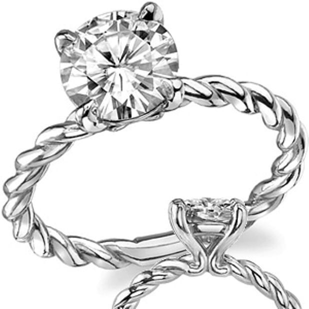 1.07Ct Certified Engagement Ring Round Cut Diamond 14K White Gold Bridal jewelry #DiscoverDiamonds #Solitaire