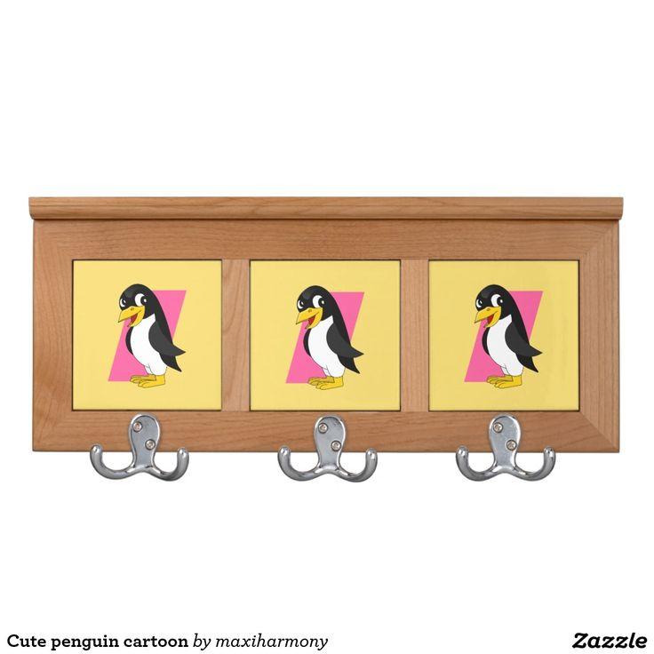 Cute penguin cartoon coat rack