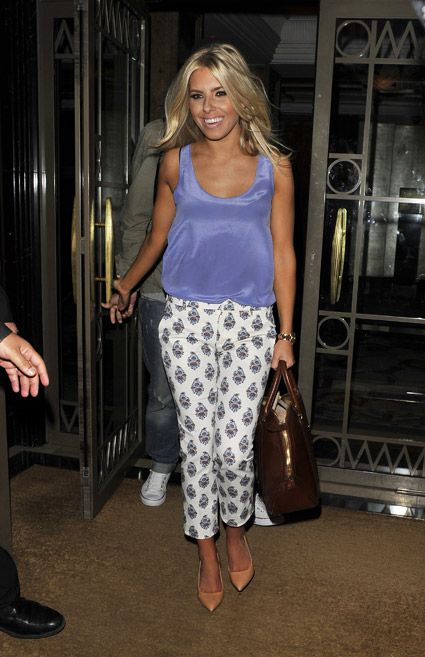 Mollie King in Zara pants