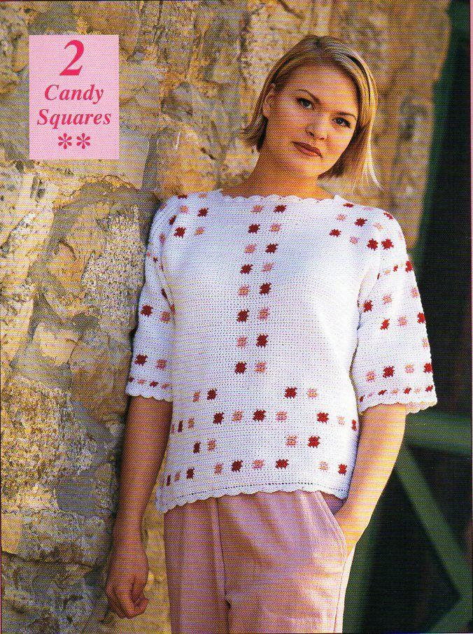 ladies crochet sweater crochet pattern pdf womens crochet jumper 34-42 inch thread crochet cotton Instant Download by Hobohooks on Etsy