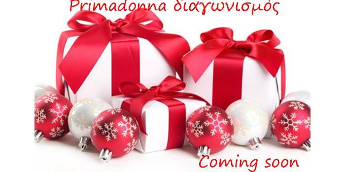 Έρχεται μεγάλος χριστουγεννιάτικος διαγωνισμός από το Primadonna Woman Fashion με δύο υπέροχα δώρα για δύο τυχερές από εσάς.Περισσότερα στο www.primadonna.com.gr