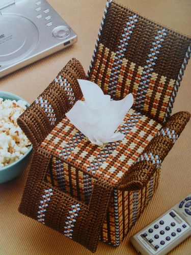 Neat TV Time Tissue Topper Pattern s for Plastic Canvas | eBay