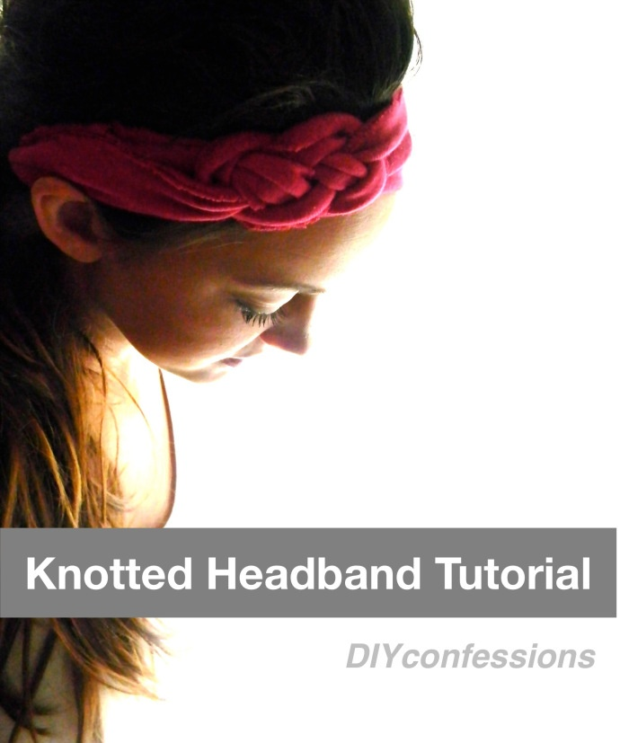 Knotted Jersey #Headband DIY