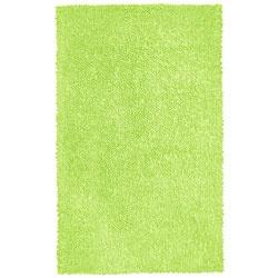 Hand-woven Chenille Green Shag Rug (26 x 42) $37.99 @ Overstock.com