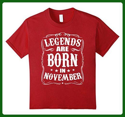 Kids Legends Are Born in November Birthday Gift Shirt Ideas 2017 10 Cranberry - Birthday shirts (*Amazon Partner-Link)