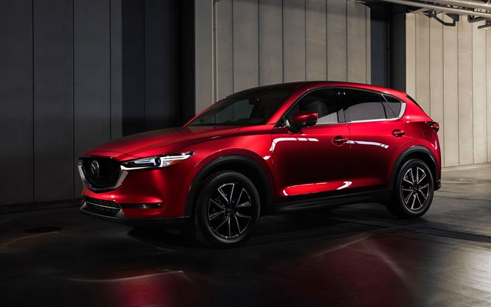 Download wallpapers Mazda ??-5, 2018, red crossover, new cars, 4k, red ??-5, Mazda