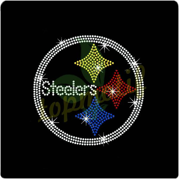 Pittsburgh Steelers Symbol Crystal Heat Transfer For Sports Tee