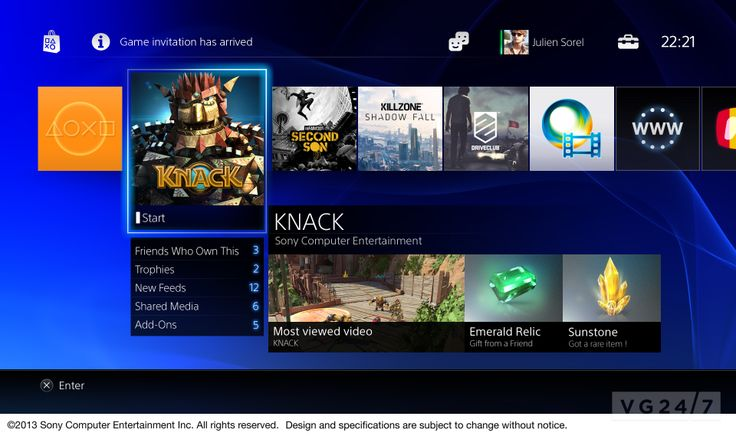 PS4 user interface detailed in high-res images | VG247