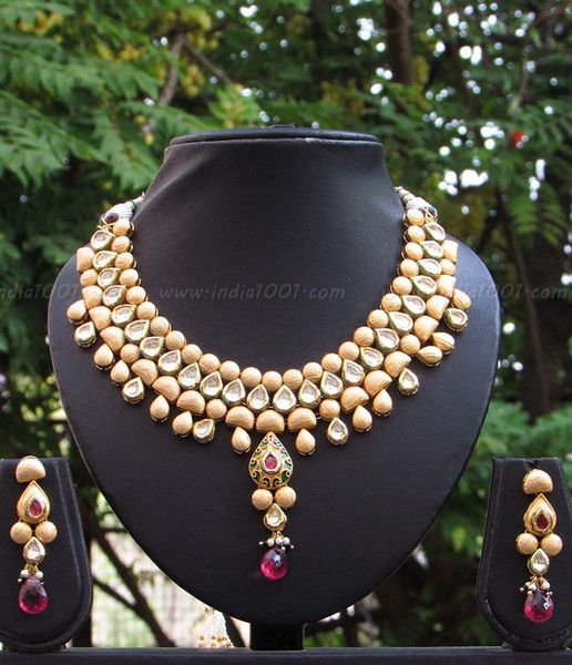 Designer Kundan and Meenakari Necklace Set