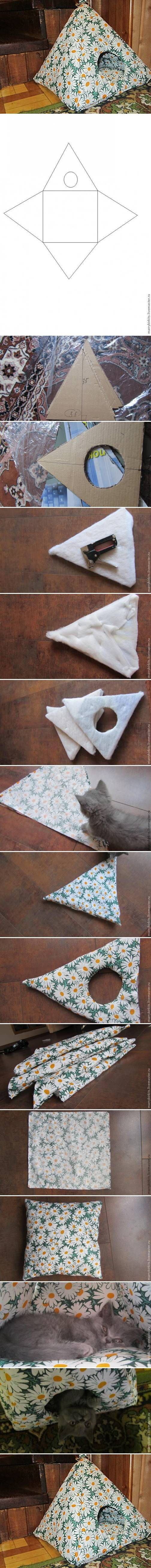 DIY House for Cat DIY Projects | http://UsefulDIY.com