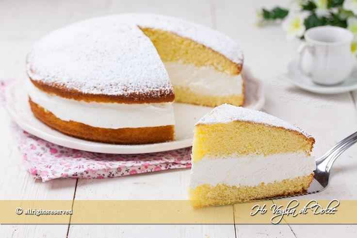 Torta+paradiso+farcita+con+crema+al+latte