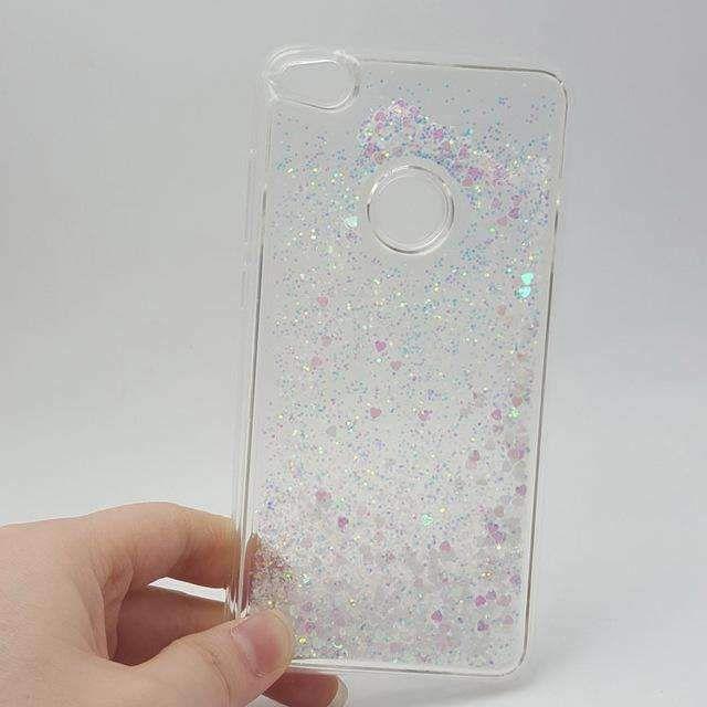 Paillette Glitter Stars Flowing Water Liquid Case for Huawei P8 P9 P10 Lite 2017/Nova Lite 5.2 Clear Soft TPU Cover Phone cases