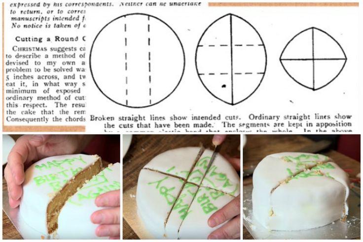 как правильно нарезать круглый торт