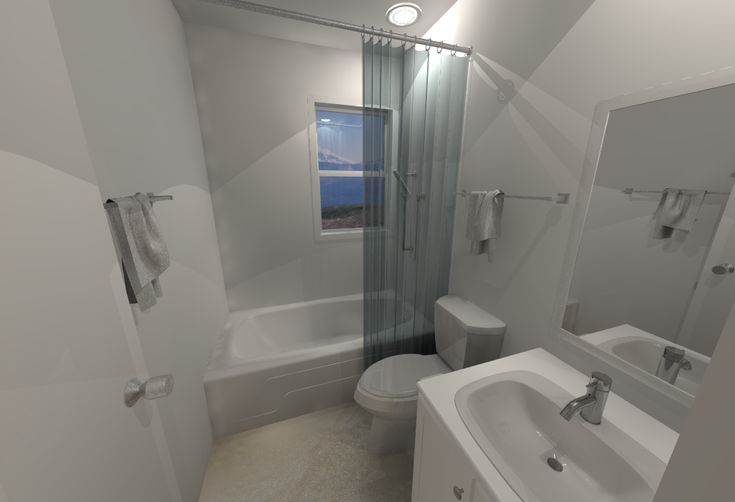 Small House Floor Plans - Downstairs Bathroom