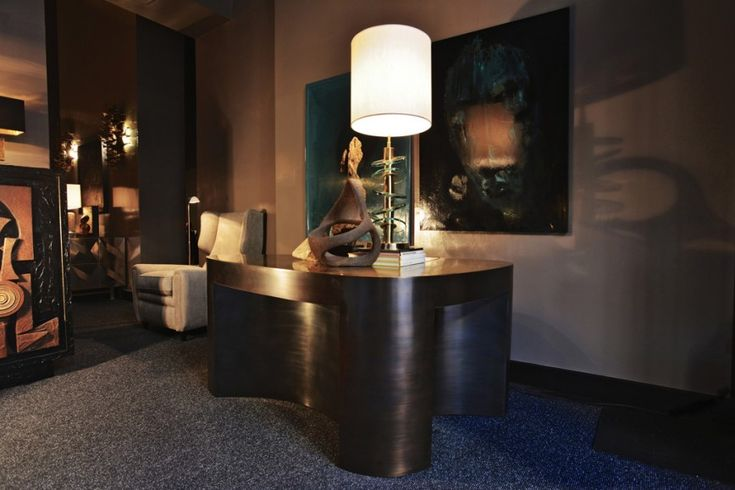 LUTETIA desk-bronze patinated by ATELIER STEFAN LEO