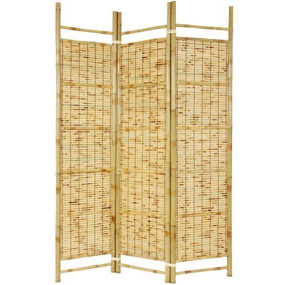 Oriental Furniture Burnt Bamboo Room Divider