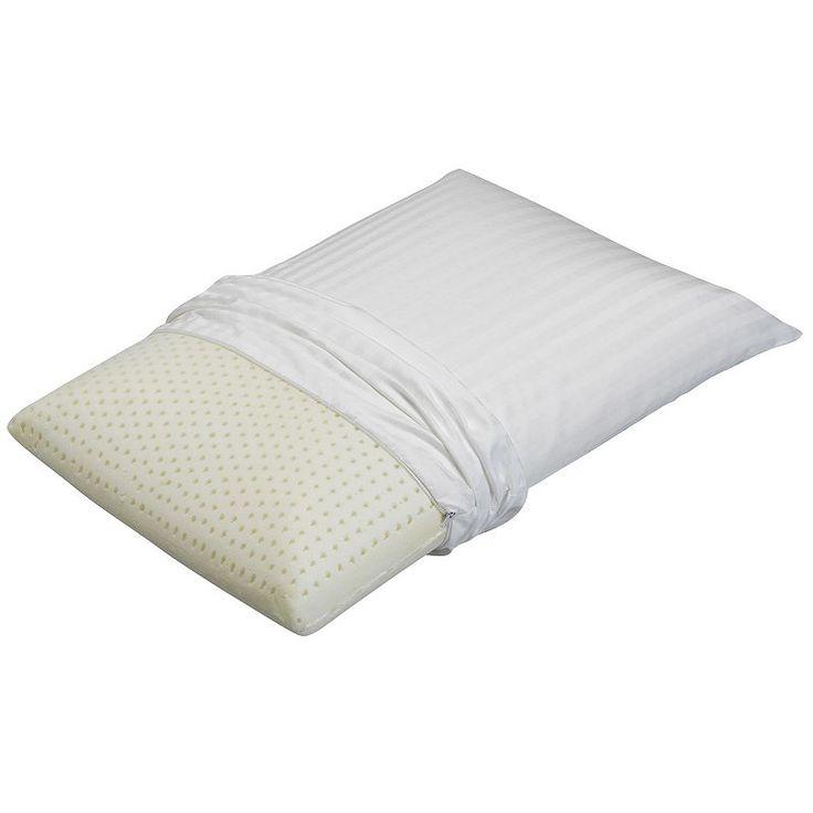 Beautyrest Extra Firm Latex Foam Pillow, White