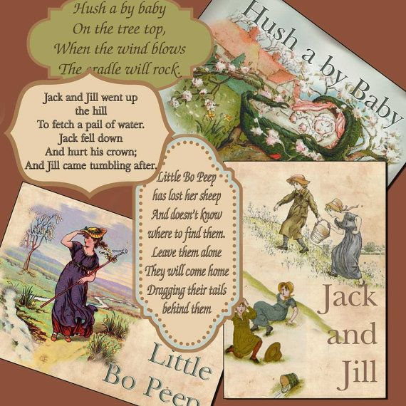These rhymes are eternal. I heard them as a child, I told them as a mother. NURSERY RYHMES  and Fairy Tales 340 you print Jack by ArtToArt,