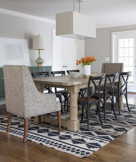 Dining Room: After | It's lofty and bright now, but when Abby and David Gordon bought their Nashville house in 2013, it was anything but.