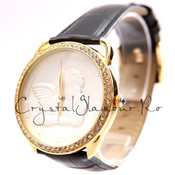 Ceas dama Jessy Gold Angel cu cristale Swarovski