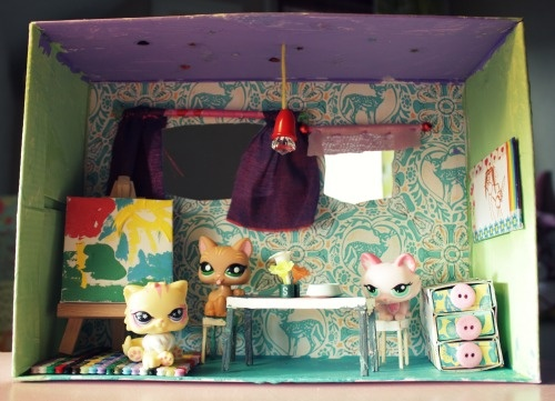 The Dining Room In A Shoe Box Doll House Diy Sew It Make It