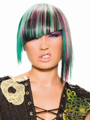 Short hair color highlights 2011 2012 If I ever become famous and don't have to work a 9-5 I am soo doing this to my hair