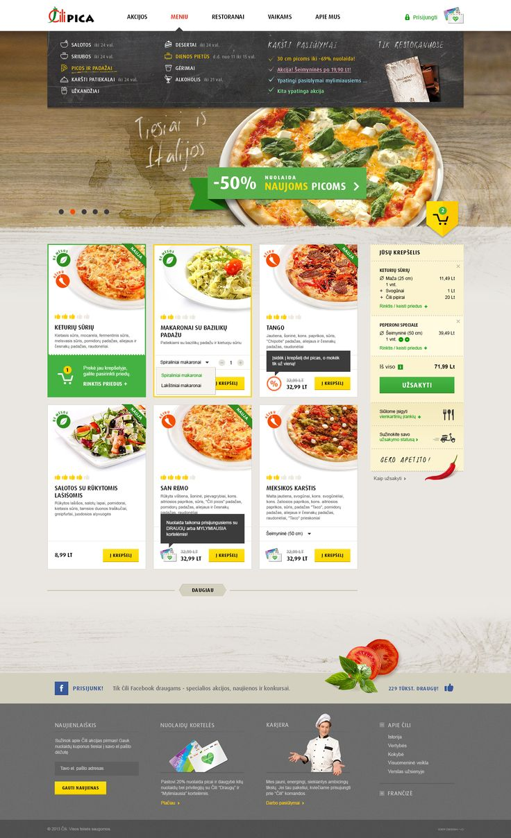 Pizza Restaurant Website Design