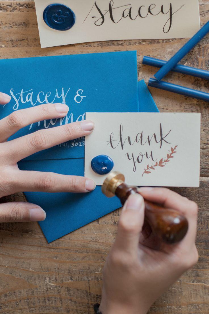 monogram wedding envelope seals sticker%0A Wax seal  NoteMaker