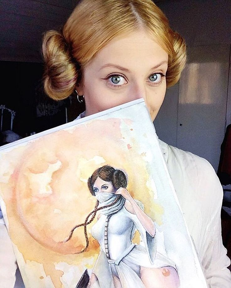 Star wars day! May the 4th be with you. Leia fan art. By Alicia Nilsson