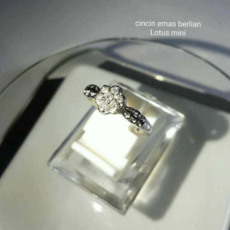 New Arrival🗼. Cincin Emas Berlian Lotus mini💎💍.   🏪Toko Perhiasan Emas Berlian-Ammad 📲+6282113309088/5C50359F Cp.Antrika👩.  https://m.facebook.com/home.php #investasi#diomond#gold#beauty#fashion#elegant#musthave#tokoperhiasanemasberlian