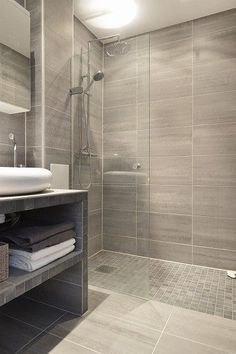 Great #bathroom Tiles, Shower, Vanity, Mirror, Faucets, Sanitaryware,  #interiordesign Good Ideas