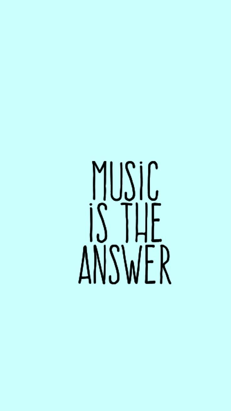 Music is the Answer | quotes to put on your custom phone case