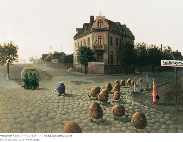 Zum Kartoffellager by Michael Sowa, Kiku Corner