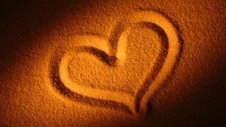 настроения, сердце, сердечко, любовь, пляж, песок