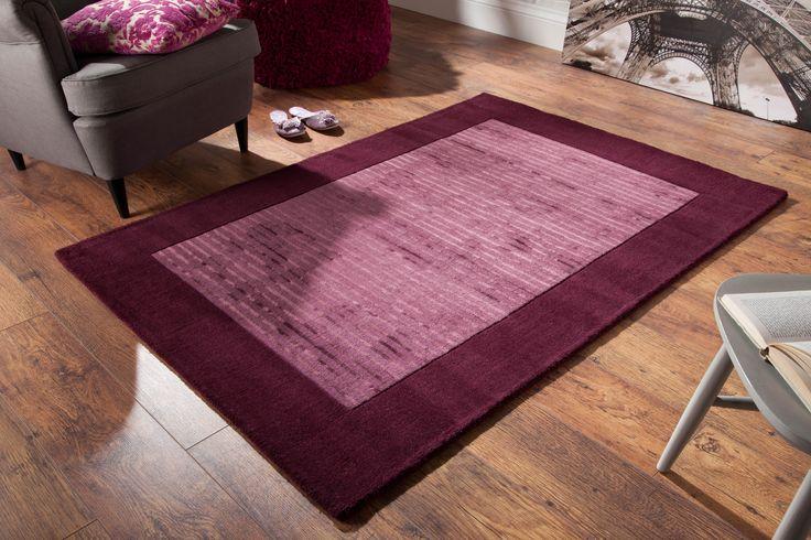 Simple & Sober!! A sophisticated rug for your modern room settings. #woolrugs #luxuryrugs #modernrugs #largerugs #purplerugs #viscoserugs