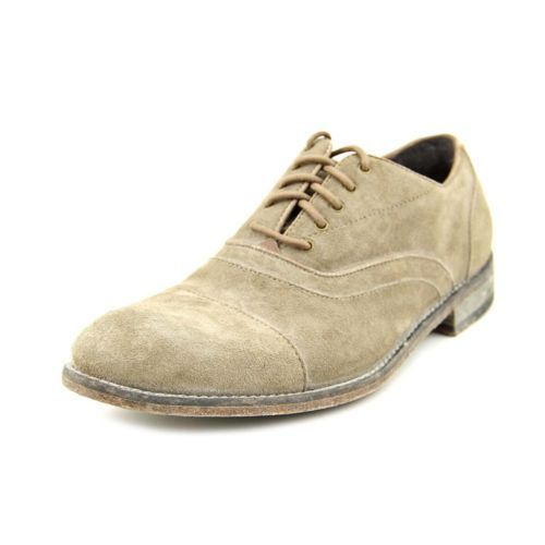 John-Varvatos-Sid-Casual-Mens-US-Size-9-Gray-Suede-Oxfords-Shoes