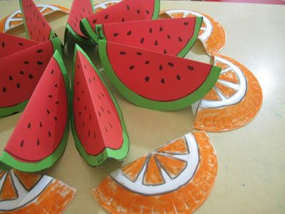 Mor Kelebekler: Meyveler, Karpuz & Köpük tabaktan Portakal