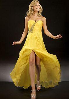 Chic Sweetheart A line Chiffon Spring & Summer Sweep/ Brush Train Evening Dresses - Lunadress.co.uk