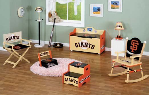 SF Giants Baby Furniture Set. For my future baby that Ill have one day!