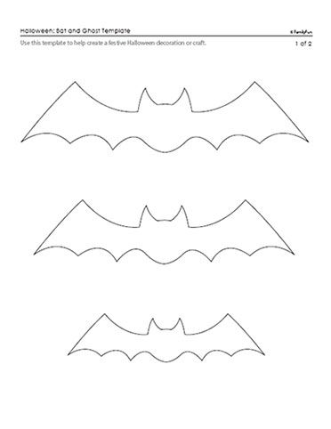 Bat & Ghost Patterns for Halloween (Printable Templates for Kids) | Printable Halloween Patterns & Pumpkin Carving Templates | FamilyFun