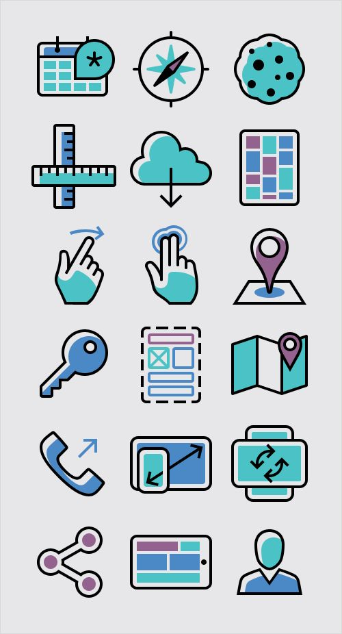 Freebie: Responsive And Mobile Icon Set (100 Icons, PNG, PSD