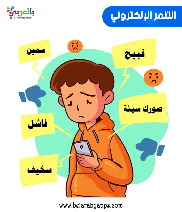 صور وعبارات عن التنمر الالكتروني معا ضد التنمر الإلكتروني بالعربي نتعلم In 2021 Bedroom Door Design Cartoon Comics