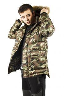 Куртка-пуховик мужская Камуфляж