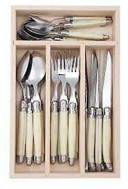 Laguiole - Debutant Mirror - 24pc Cutlery Sets - IVORY